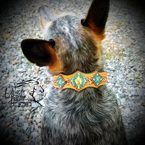 Copper Floral Dog Collar (Multiple Sizes)