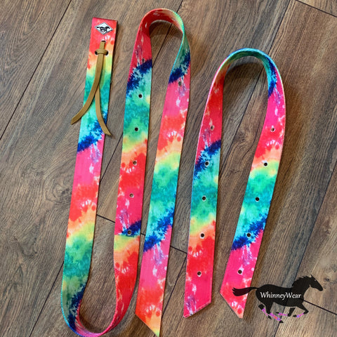 WhinneyWear Neon Tie Dye Patterned Cinch Set