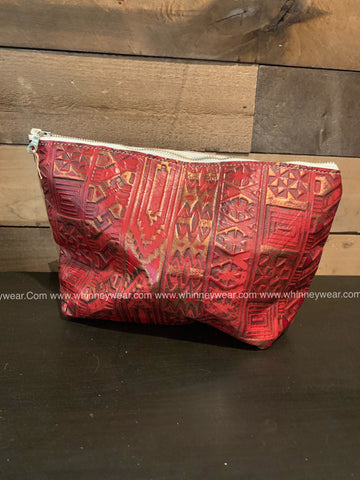 Red & Gold Aztec Cosmetic Bag