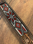 Tooled & Beaded Dog Collar