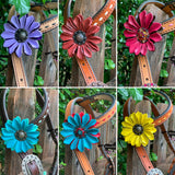 Custom Leather Flower