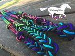 WhinneyWear Custom Black/Rainbow Reins