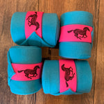 Custom Set of 4 Solid Colored Polo Wraps