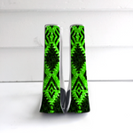 Lime Green Aztec Stirrups