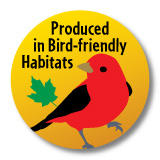 Produced in bird friendly habitats