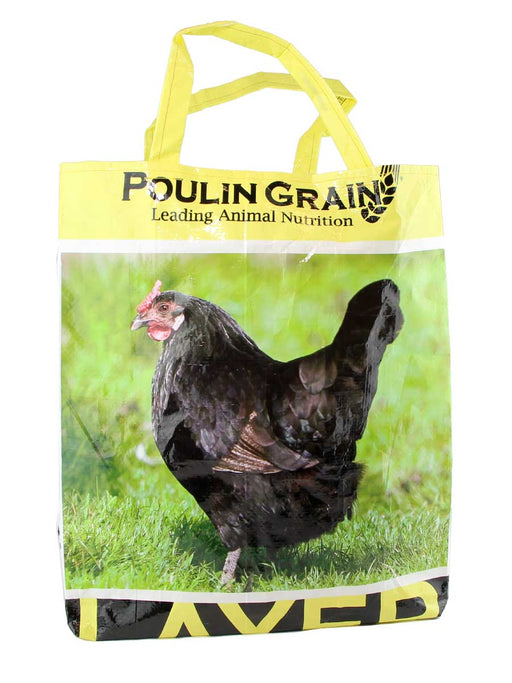 Black Chicken with Yellow Handles Market Tote - A Slice of Vermont