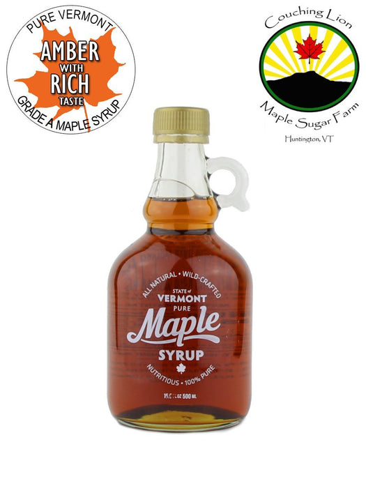 Couching Lion Maple Sugar Farm - Amber Rich Maple Syrup - A Slice of Vermont