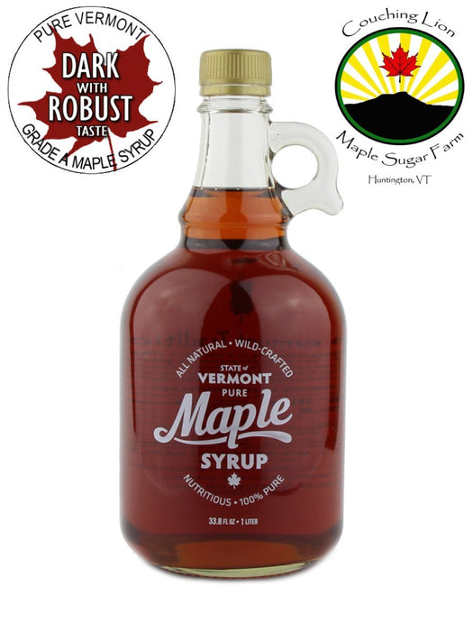 Couching Lion Maple Sugar Farm - Dark Robust Maple Syrup - A Slice of Vermont