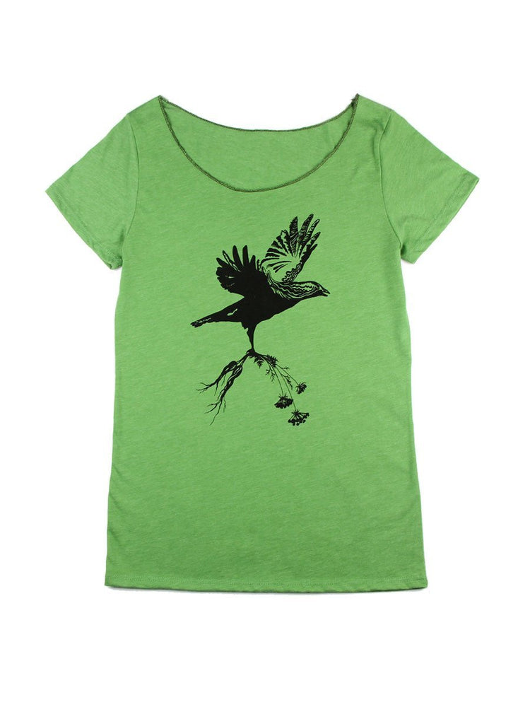 Hawthorn Meadow Farmstead Studios - Bird in Flight Scoop Tee - A Slice of Vermont