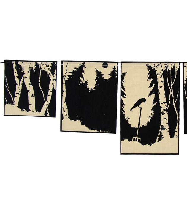 Hawthorn Meadow Farmstead Studios - Woodland Crow Flag Set - A Slice of Vermont