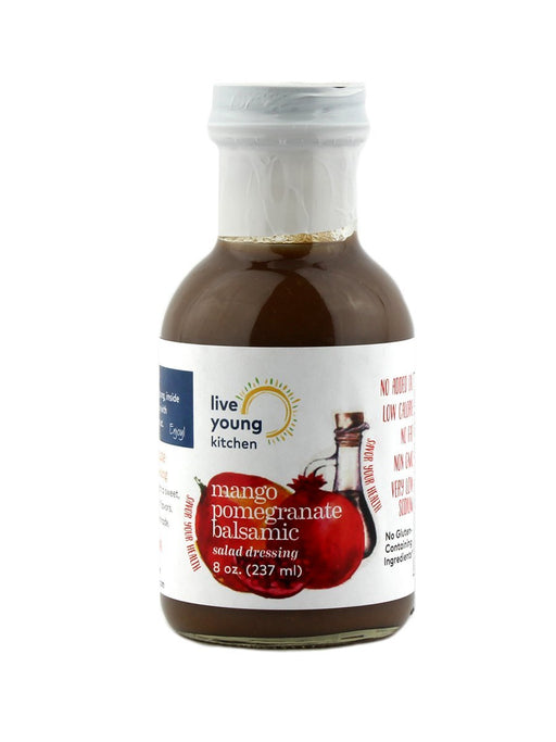 Live Young Kitchen - Mango Pomegranate Balsamic Dressing - A Slice of Vermont