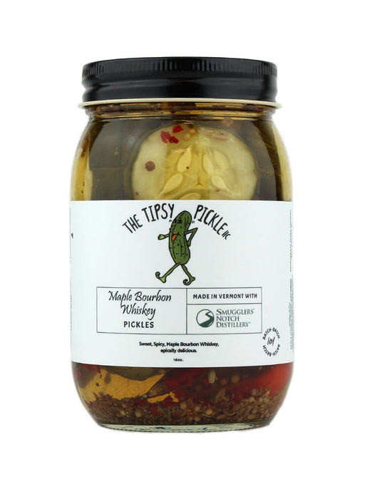The Tipsy Pickle - Maple Bourbon Whiskey Pickles - A Slice of Vermont