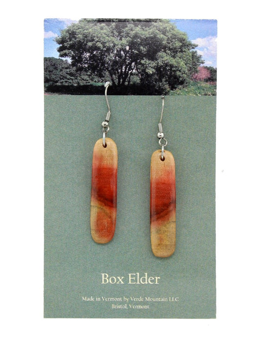 Verde Mountain - Box Elder Narrow Earrings - A Slice of Vermont