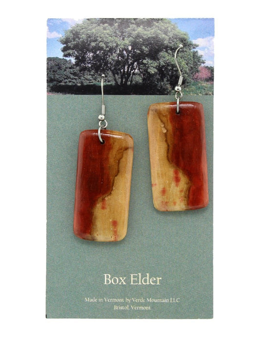 Verde Mountain - Box Elder Wide Earrings - A Slice of Vermont