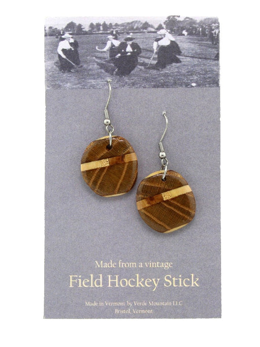 Verde Mountain - Field Hockey Stick Earrings - A Slice of Vermont