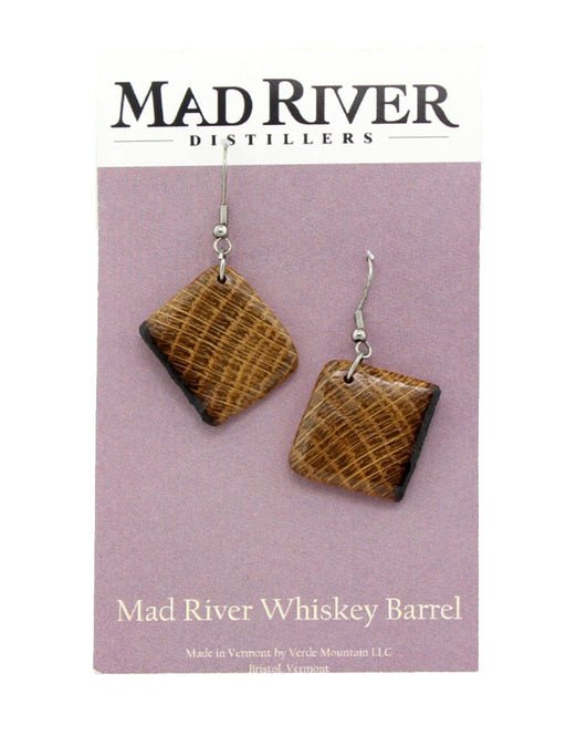 Verde Mountain - Mad River Whiskey Barrel Earrings - A Slice of Vermont