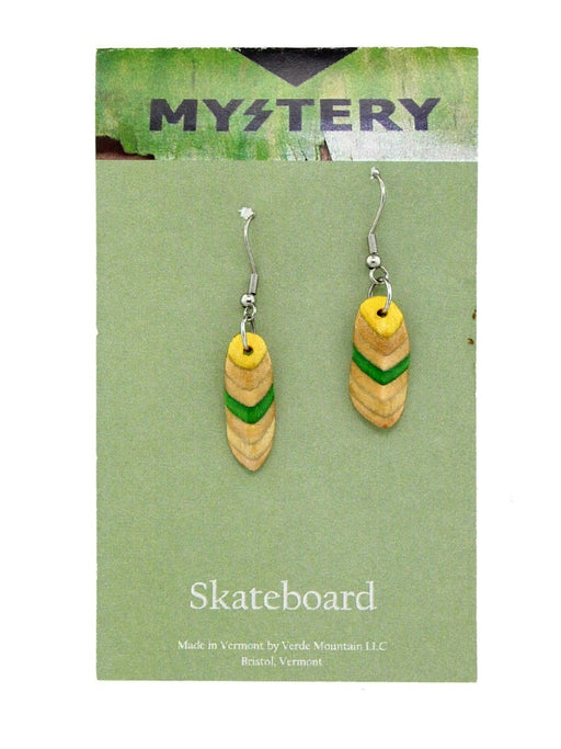 Verde Mountain - Skateboard Earrings - A Slice of Vermont