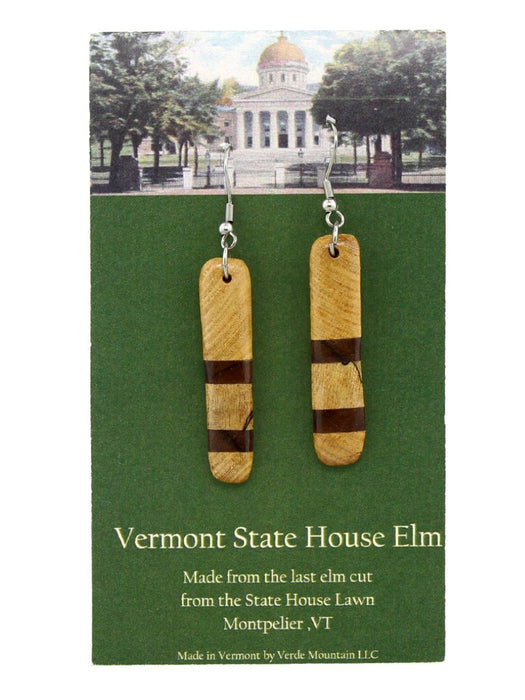Verde Mountain - State House Elm Earrings - A Slice of Vermont