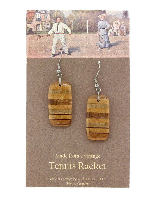Verde Mountain - Tennis Racket Horizontal Earrings - A Slice of Vermont