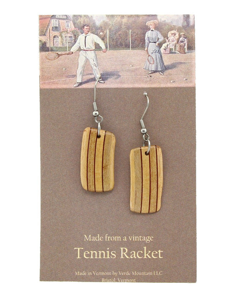 Verde Mountain - Tennis Racket Vertical Earrings - A Slice of Vermont