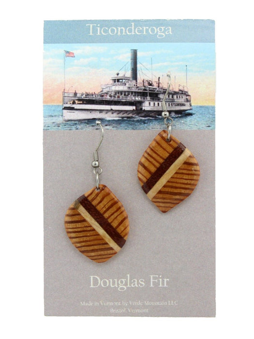 Verde Mountain - Ticonderoga Douglas Fir Earrings - A Slice of Vermont