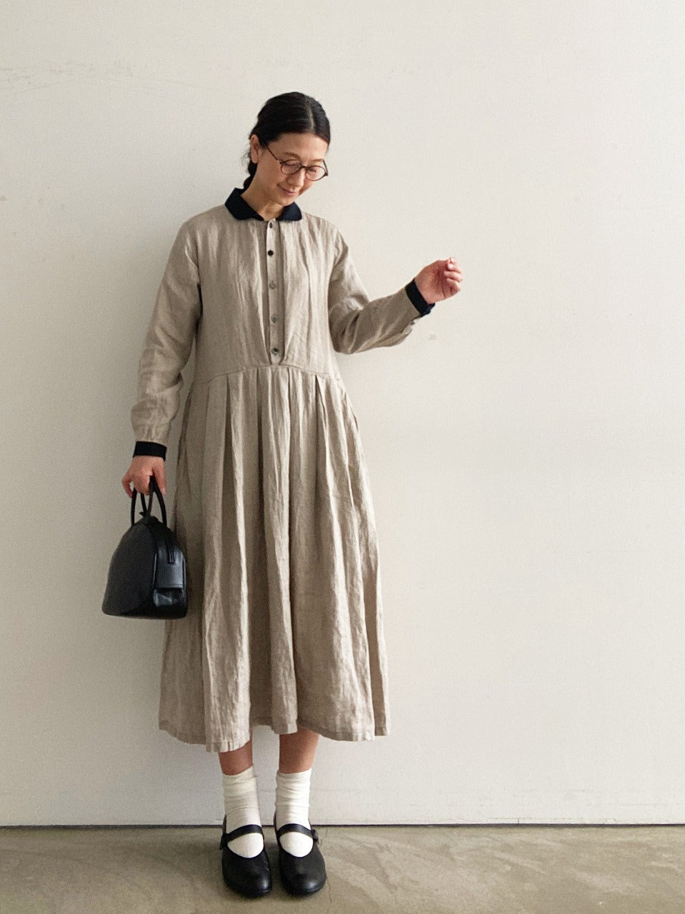 Vlas Blomme Shirt Dress 132000/shfy