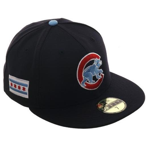 27adbf13582 Exclusive New Era 59Fifty Chicago Cubs City Flag Hat - Navy – demo ...