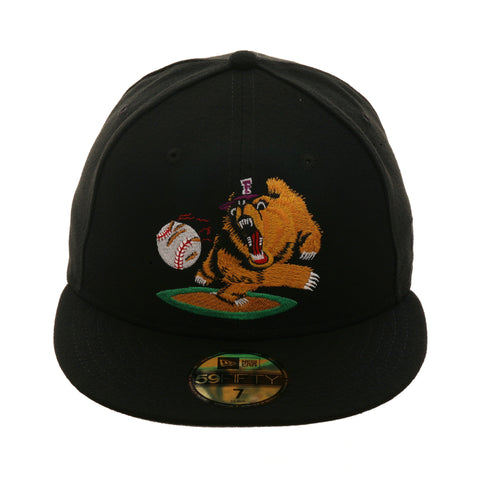 b53e1e336e1 Exclusive New Era 59Fifty Fresno Grizzlies 2003 Alternate Hat - Black
