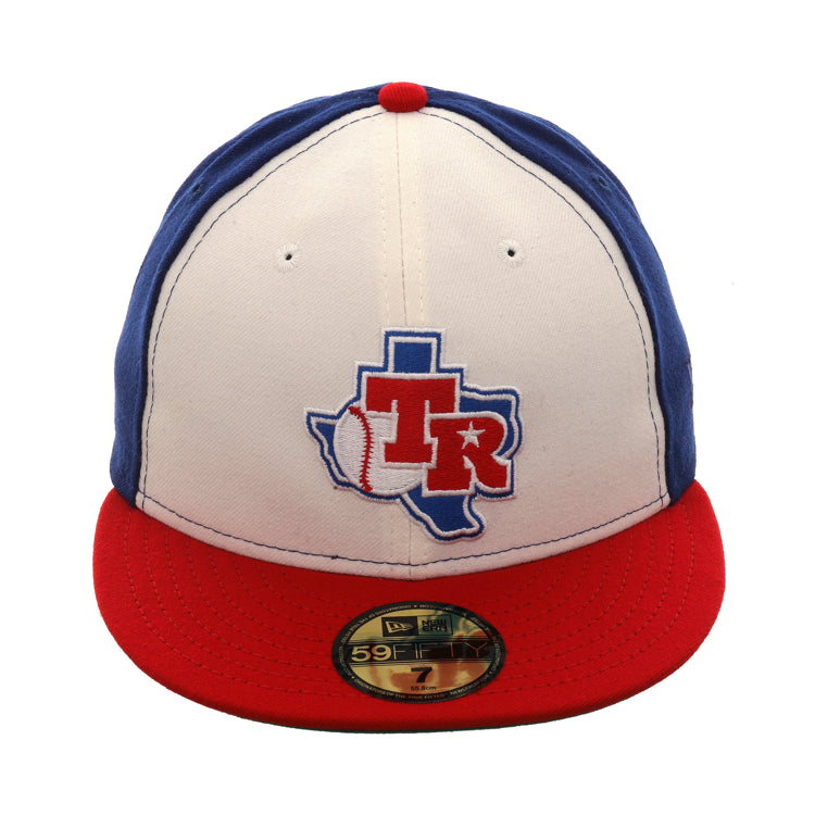 Exclusive New Era 59Fifty Texas Rangers 1982 Logo Rail Hat - White ... f113de004
