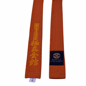 Karate Kyokushin Belt kyokushin karate kyokushinkai  karate belts Japan Tokyodo belts could embroidered name and words