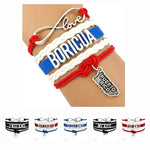 Country Puerto Rico Boricua Germany Scotland Australia England Mexico Colombia United States America Bracelets for Women