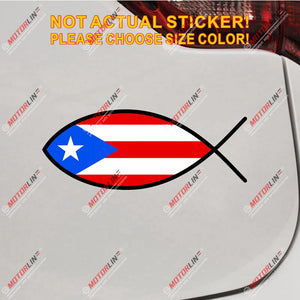 Puerto Rico Flag PR Jesus Fish God Decal Sticker Car Vinyl Reflective Glossy pick size high quality