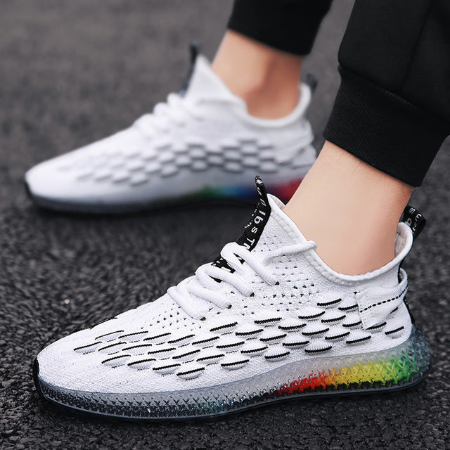 Men Casual Fashion Shoes 4D Print Mens Running Sport Sneakers  Mesh Breathable Shoe Outdoor Tenis Footwear Zapatillas Hombre