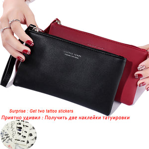 Women Wallet Long Fashion Zipper Clutch Hand Bag 2019 New Mobile Phone Bag Card Holder Coin Purse Thin Wallet