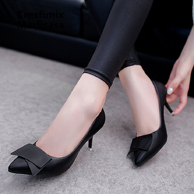 Bombas De Mujeres Women Cute Sweet Red Slip on High Heel Shoes Lady Casual Comfortable Autumn Pumps Female Black Shoes G743