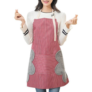 Home Cooking Apron Double-side Hand Wiping Oxford Cloth Oil-proof Large Pocket Aprons With Adjustable Buckle Strap kitchen tools