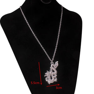 stainless steel chain 3mm trendy angel Play rabbit head tiger unicorn Necklace women unisex jewelry new punk flame necklaces men