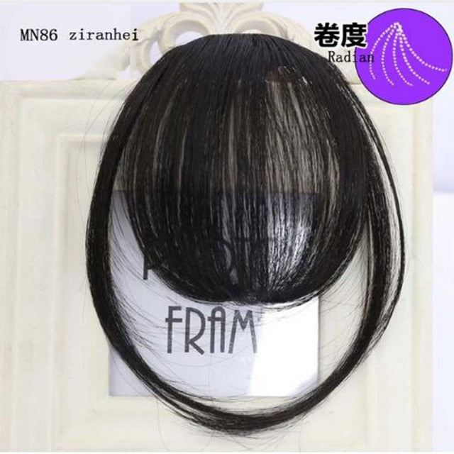 LVHAN air bangs pure bangs hair extension synthetic wig natural black light brown dark brown black high temperature fiber