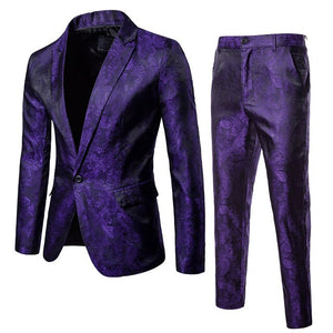 2Pcs Mens Blazer Suit Slim Fit Tuxedo Coat + Pants Trousers Formal Evening Wedding Groom 2019 nEW