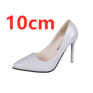 Cresfimix women fashion pointed toe comfortable slip on office high heel shoes lady cute casual high quality black shoes b3210