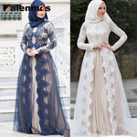 Muslim Abaya Dress Women Islamic Clothing Lace Vintage Kaftan Long Dubai Arab UAE African Party Wedding Dubai Maxi Plus Size 5XL