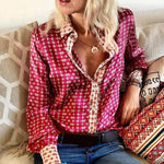 LASPERAL New Fashion Tops Blouses Women Long Sleeve Autumn V Neck Floral Printing Streetwear Top Ladies Office Work Shirts 2020