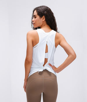 2020 Activewear Workouts Clothes Open Back Tank Tops Stretch Sexy Blouse Gym Tank Sleeveless Shirts Sports Crop Top
