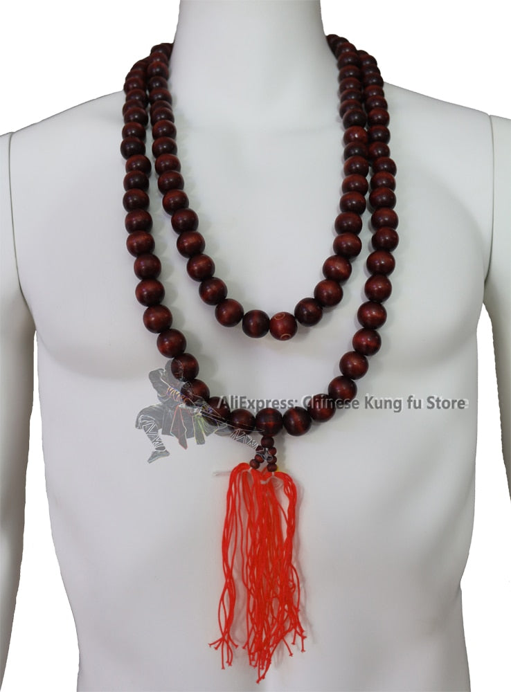 Buddhist Prayer Beads Necklace for Shaolin Kung fu Suit Tai chi Uniform Martial arts Wushu Jacket