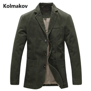 2020 Spring Men 100% Cotton Casual Blazer Men's Brand Military Jacket Blazers Mens Suit Coat Male Blazer Masculino Jackets