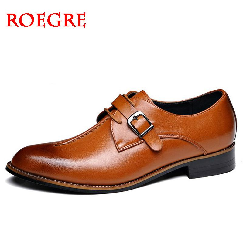 2020 New Men's Dress Shoes Formal Fashion Elegant Wedding Genuine Leather Shoes Man Brogue Business Office Flats Oxfords For Men