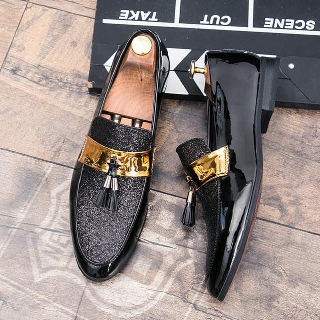 ROMMEDAL Flats Leather Casual Men Shoes For Man  2019 Hot Sale Oxford Wedding Dress Party Male Glitter Formal Footwear Wholesale
