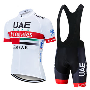2019 Team UAE Cycling Jerseys Bike Wear clothes Quick-Dry bib gel Sets Clothing Ropa Ciclismo uniformes Maillot Sport Wear