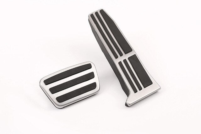 Steel Fuel Brake Accelerator Foot Rest Pedal Pad Plate Trim AT For Toyota Camry 2019 Avalon 2019 For Lexus ES 2019 LS 2018 2019