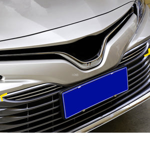 Stainless Steel for Toyota Camry 2018 Front Mesh Grille Stainless Steel Trim Strip Sticker Front Grille Molding Car Accessories